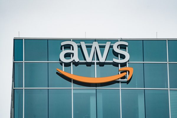 The Amazon Web Services (AWS) office at CityCentre Five, 825 Town and Country Lane, Houston, Texas.