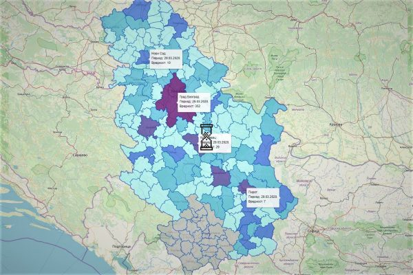 mapa pandemije