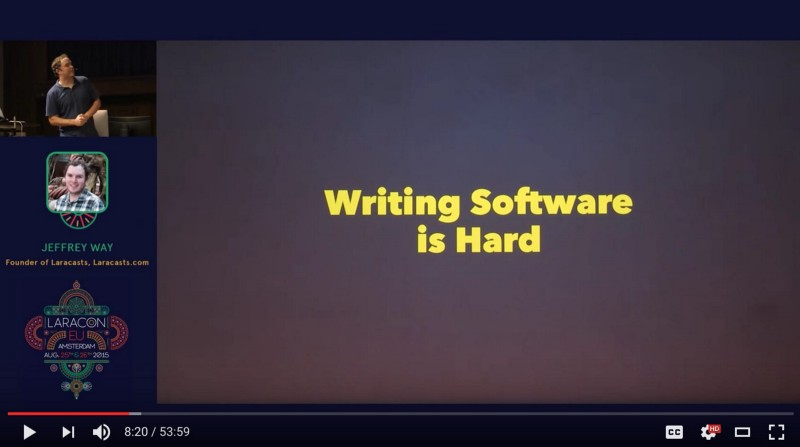 jeffrey way writing software is hard