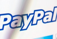Paypal logo on a monitor screen