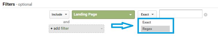 filtriranje koriscenjem regex ili exact